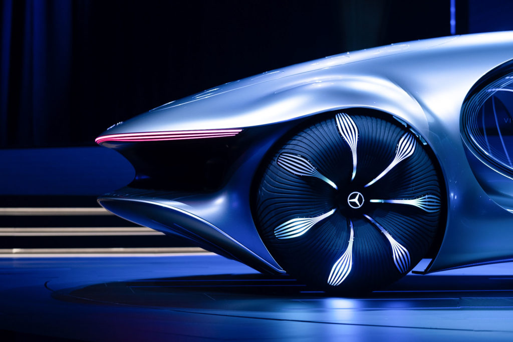 Mercedes-Benz unveils an Avatar-themed concept car with scales